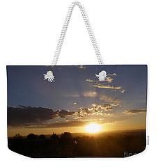 Solar Eclipse Sunset Weekender Tote Bag