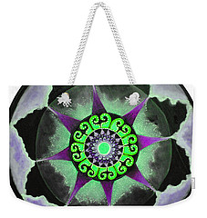 Weekender Tote Bag featuring the painting Solar Soul Purple Sky by Patricia Arroyo