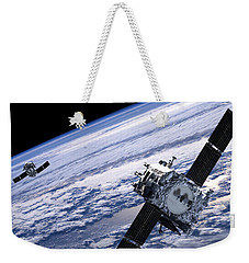 Solar Terrestrial Relations Observatory Satellites Weekender Tote Bag by Anonymous