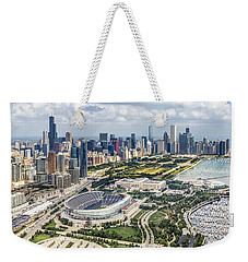 Soldier Field And Chicago Skyline Weekender Tote Bag