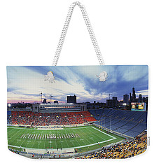 Soldier Field Football, Chicago Weekender Tote Bag by Panoramic Images