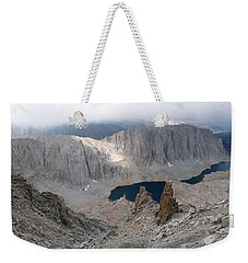 Weekender Tote Bag featuring the photograph Solitary Hiker Panorama by Alan Socolik