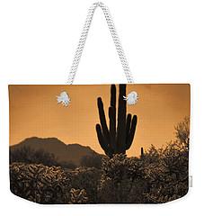 Solitary Saguaro Weekender Tote Bag