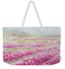 Weekender Tote Bag featuring the painting Solitude by Jane  See