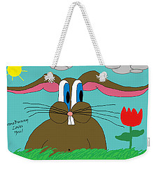 Somebunny Loves You Weekender Tote Bag