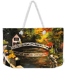 Somesville Maine Footbridge Weekender Tote Bag by Eileen Patten Oliver