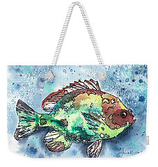 Something's Fishy Weekender Tote Bag by Barbara Jewell