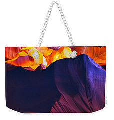Weekender Tote Bag featuring the photograph Somewhere In America Series - Antelope Canyon by Lilia D