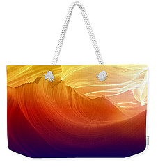 Weekender Tote Bag featuring the photograph Somewhere In America Series - Colorful Light In Antelope Canyon by Lilia D