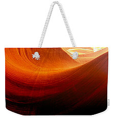 Weekender Tote Bag featuring the photograph Somewhere In America Series - Red Waves In Antelope Canyon by Lilia D