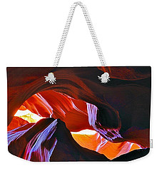Weekender Tote Bag featuring the photograph Somewhere In Waves In Antelope Canyon by Lilia D