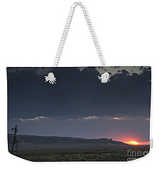 A Sunset Somewhere In Wyoming Weekender Tote Bag