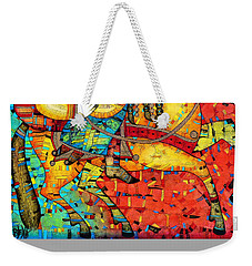 Sonata For Two And Unicorn Weekender Tote Bag by Albena Vatcheva