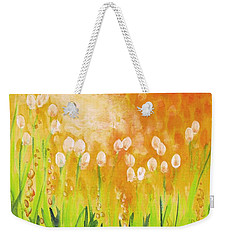 Weekender Tote Bag featuring the painting Sonbreak by Holly Carmichael