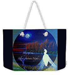 Song Of The Silent  Autumn Night In The Round With Text  Weekender Tote Bag