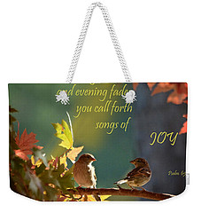 Songs Of Joy Weekender Tote Bag