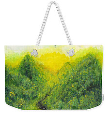 Weekender Tote Bag featuring the painting Sonsoshone by Holly Carmichael