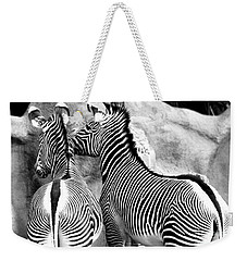 Weekender Tote Bag featuring the photograph Soulmates by Kristine Merc