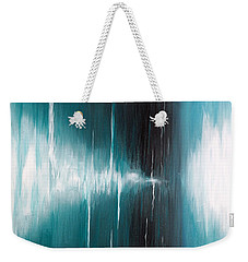 Weekender Tote Bag featuring the painting Hear The Sound by Michelle Joseph-Long