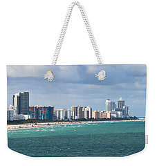 South Beach On A Summer Day Weekender Tote Bag