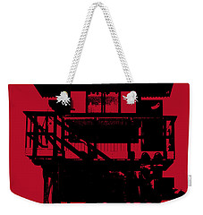 South Beach Lifeguard Stand Weekender Tote Bag