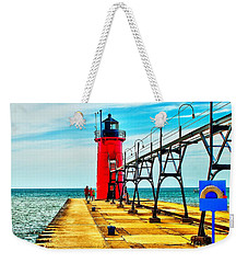 South Haven Lighthouse Weekender Tote Bag