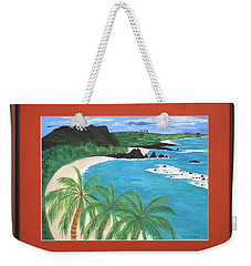 Weekender Tote Bag featuring the painting South Pacific by Ron Davidson