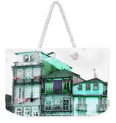 South Side Of Town-featured In Old Buildings And Ruins Group Weekender Tote Bag by EricaMaxine  Price