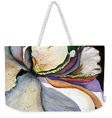 Weekender Tote Bag featuring the painting White Glory II by Lil Taylor