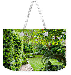 Weekender Tote Bag featuring the photograph Southern Garden Charleston South Carolina by Vizual Studio