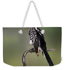 Southern Yellowbilled Hornbill Weekender Tote Bag by Johan Swanepoel