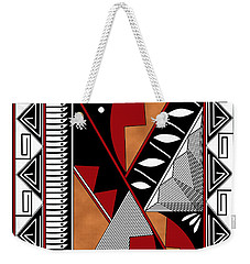 Southwest Collection - Design Seven In Red Weekender Tote Bag