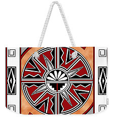 Southwest Collection - Design Six In Red Weekender Tote Bag