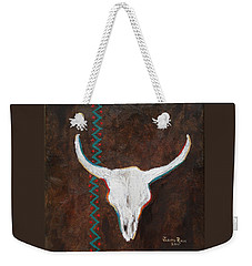 Weekender Tote Bag featuring the painting Southwestern Influence by Judith Rhue