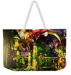 Space Garden Weekender Tote Bag by Ally  White