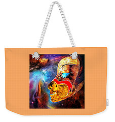 Weekender Tote Bag featuring the painting Space  Glory by Hartmut Jager