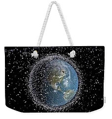 Weekender Tote Bag featuring the photograph Space Junk by Science Source