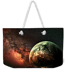 Spaced Out Weekender Tote Bag by Ally  White