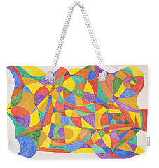 Weekender Tote Bag featuring the painting Space Craft by Stormm Bradshaw