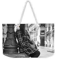 Waiting In This Spanish Street Weekender Tote Bag
