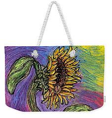 Spanish Sunflower Weekender Tote Bag by Sarah Loft