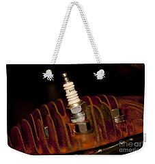Sparkplug And Rusty Cooling Fins Weekender Tote Bag by Wilma  Birdwell
