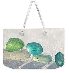 Sparkling Sea Glass Friends Weekender Tote Bag by Barbara McMahon