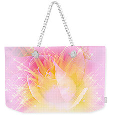 Weekender Tote Bag featuring the photograph Sparkling Starlight Burst Abstract by Judy Palkimas