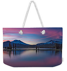 Sparks Lake Reflections Weekender Tote Bag by Patricia Davidson