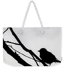Weekender Tote Bag featuring the drawing Sparrow In A Gray Sky by D Hackett