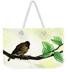Sparrow On A Branch Weekender Tote Bag