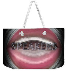 Weekender Tote Bag featuring the digital art Speakers by Catherine Lott