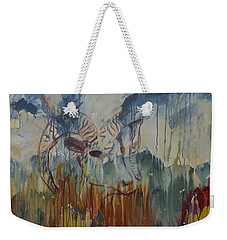 Weekender Tote Bag featuring the painting Spearfish Canyon by Avonelle Kelsey