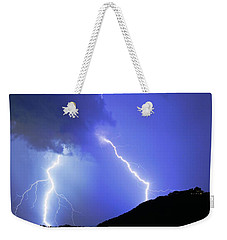 Spectacular Double Lightning Strike Weekender Tote Bag